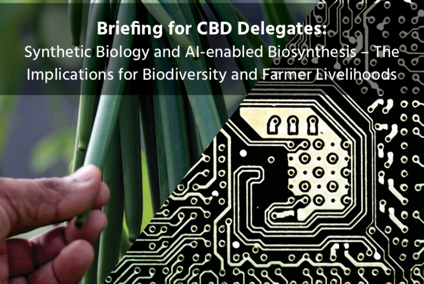 Synthetic Biology and AI-enabled Biosynthesis – the Implications for Biodiversity and Farmer Livelihoods